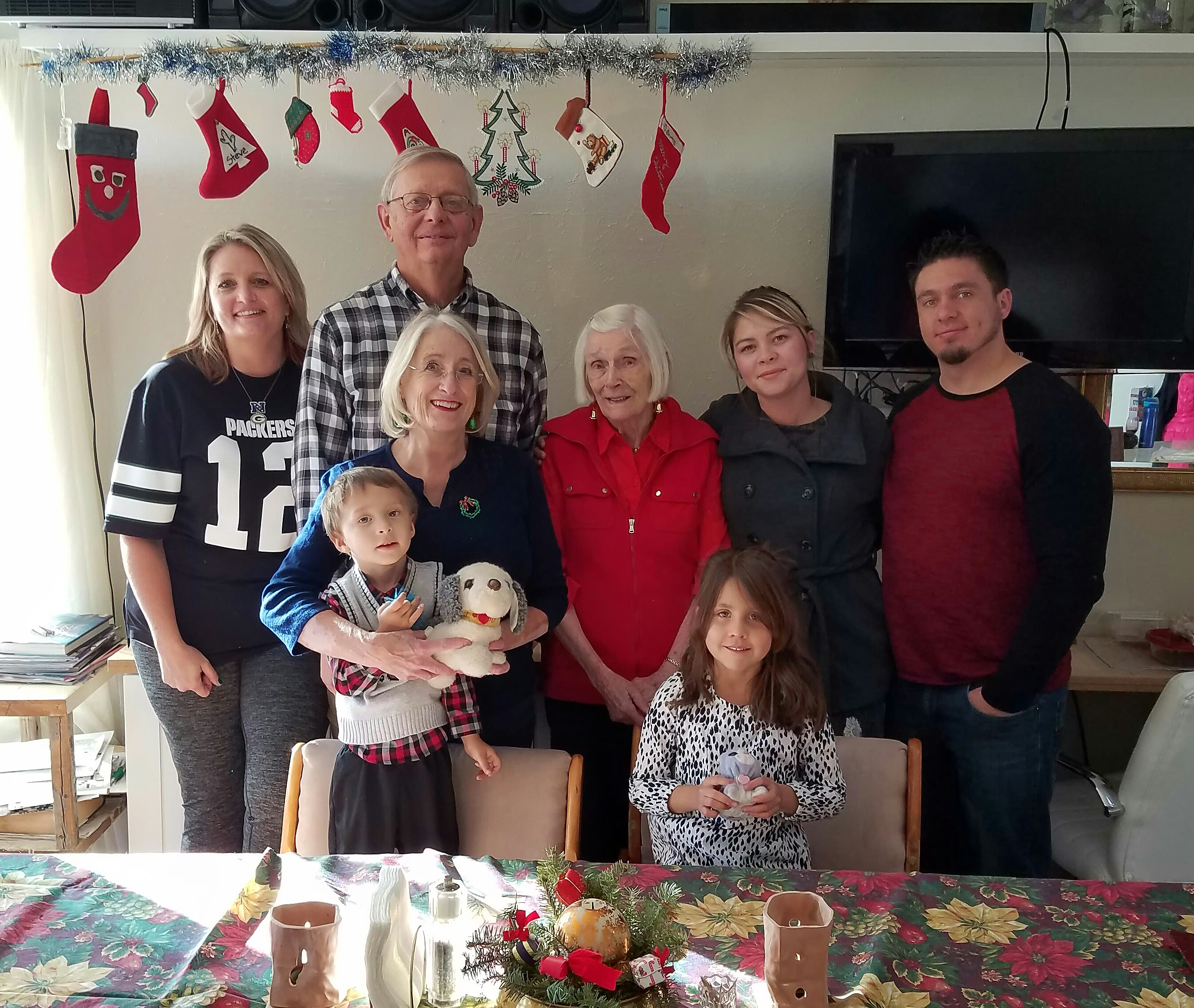 Стивен Брэк с семьей.